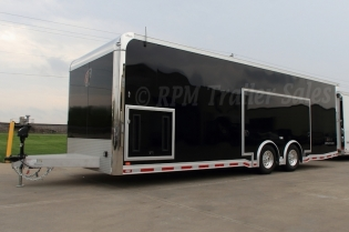 26' Custom inTech Aluminum Race Car Trailer with Escape Door