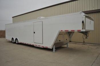 40' Custom Aluminum Gooseneck Trailer