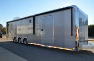 34' inTech Trailers Custom Aluminum Race Car Trailer
