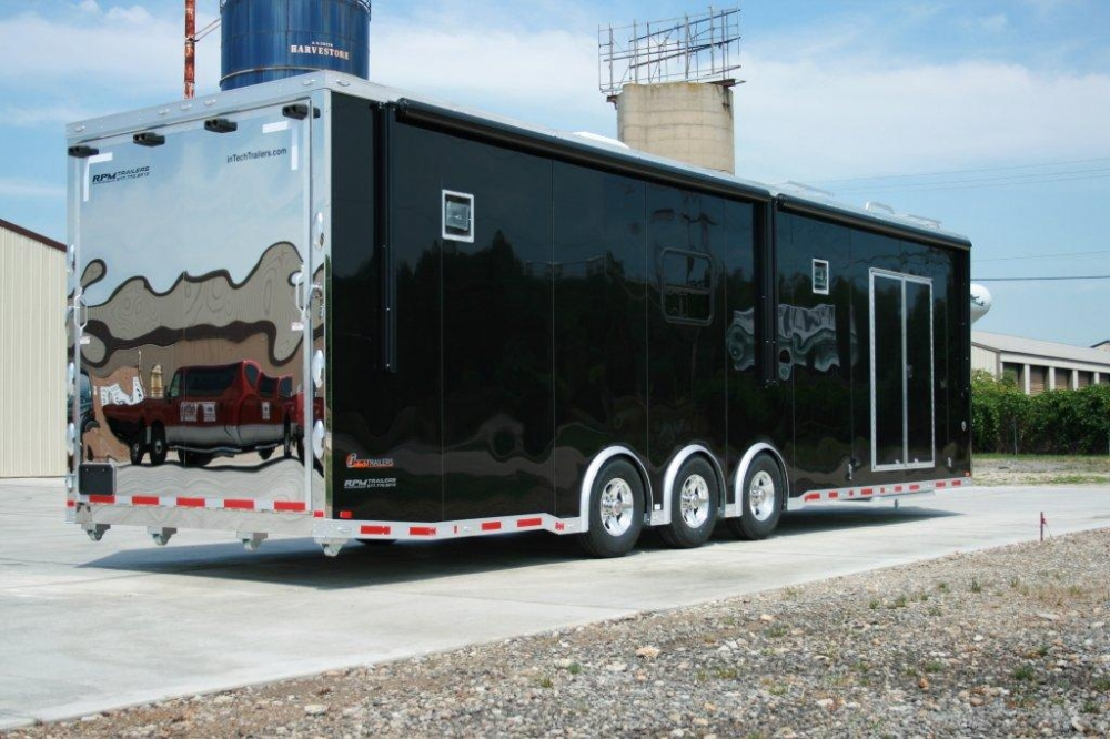 34 Custom Aluminum Intech Race Trailer With Bathroom