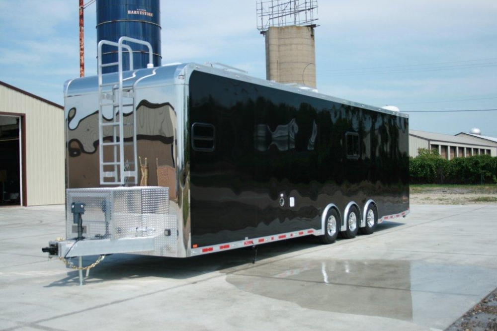 lovely Race Trailers With Bathrooms Part - 17: 34u0027 Custom Aluminum inTech Race Trailer with bathroom | RPM Trailer Sales