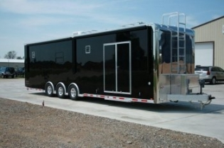 34' Black Custom Aluminum inTech Trailer with Bathroom Package