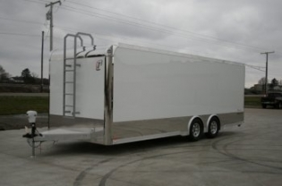 24' Custom inTech Aluminum Race Car Trailer