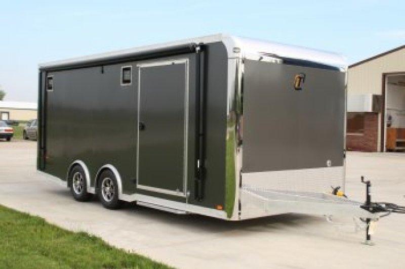 20 39 custom intech aluminum car hauler aluminum trailer for Motor trailers for sale