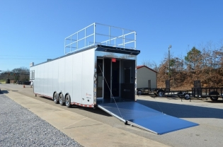 48' inTech Aluminum Gooseneck Race Car Trailer