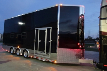 26' Aluminum Stacker Trailer w/ Bathroom Package