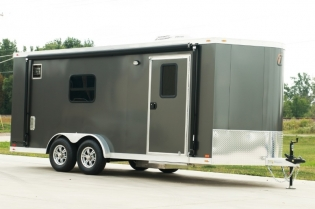 20' inTech Aluminum Motorcycle Trailer