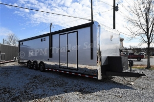 34' Custom inTech Aluminum Race Car Trailer