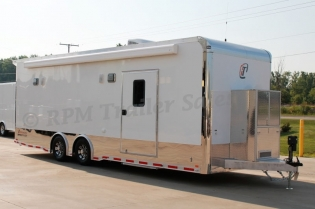 26' Custom Race Trailer with Bathroom Package