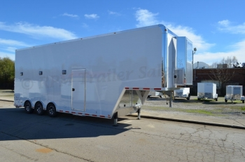 34' inTech Aluminum Gooseneck Stacker Trailer